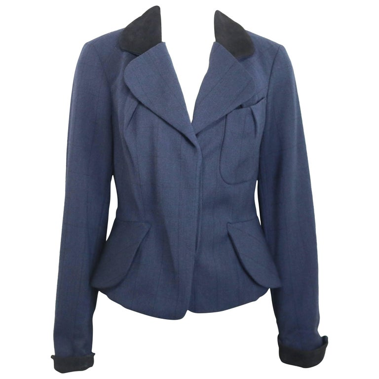 Vivienne Westwood Blue Wool Stripe Jacket