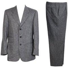 Roberto Capucci vintage wool tweed black white suit dress men's 1990s