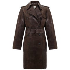 Hermes Brown Alligator  Trench Coat
