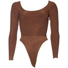 Alaia Dark Nude Body Suit