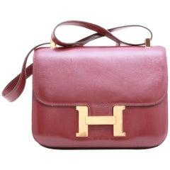 "Hermes Vintage ""Constance"" Bag in Red H Box Leather"