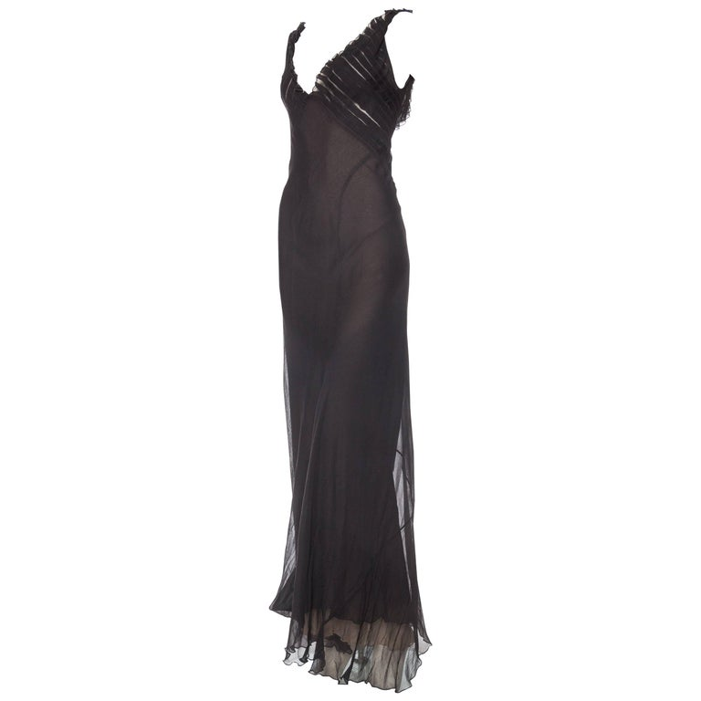 Tom Ford Gucci 1930s Style Bias Cut Chiffon Gown, 1990s