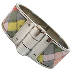 Hermès Bolduc Au Carre Romantique Like New in box Hinged Bracelet