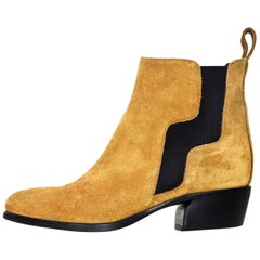 Pierre Hardy Camel Suede Gipsy Ankle Boots Sz 36 with Box