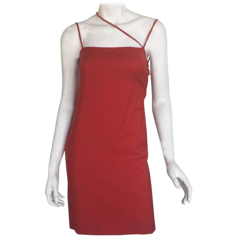 Gianni Versace red mini dress