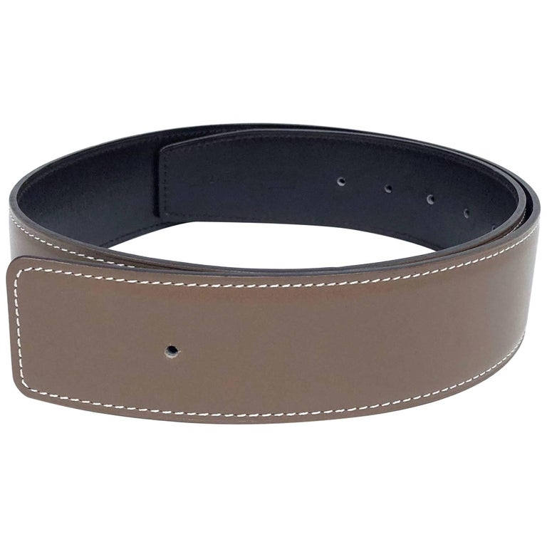 Hermès Leather Belt Strap 42 mm Reversible size 70 cm