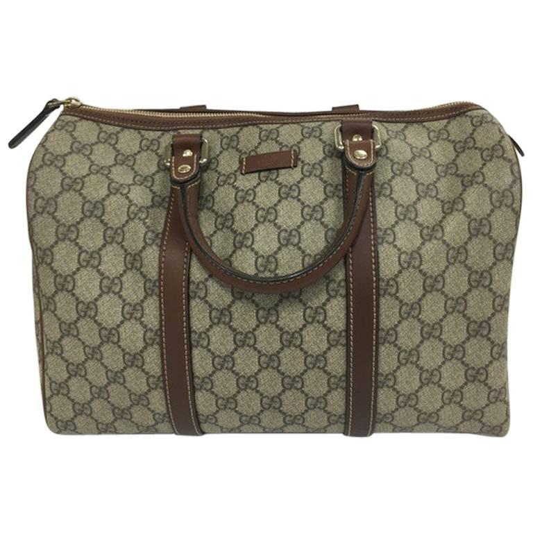 f53feddad2de Gucci Joy Boston Bag GG Coated Canvas Medium at 1stdibs