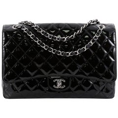 Chanel Classic Quilted Patent Max Single Flap Bag