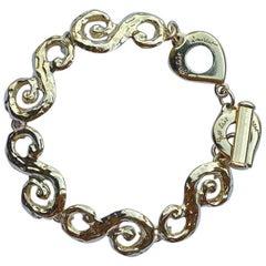 Yves Saint Laurent Swirl Link Chain Bracelet, 1980s