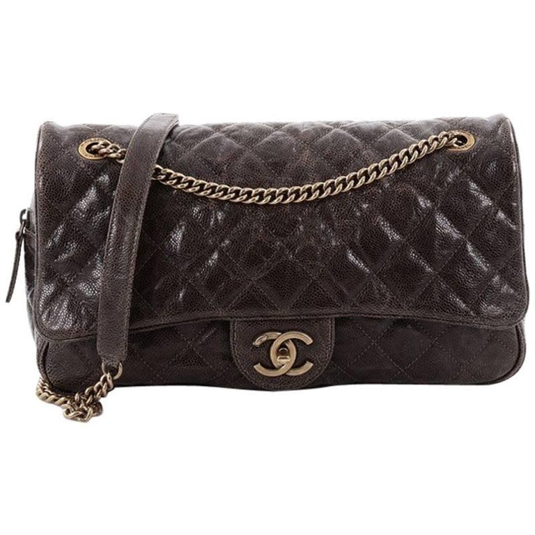 2dc718b152263b Chanel Shiva Flap Bag Quilted Caviar Large at 1stdibs