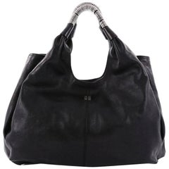 Givenchy Sacca Side Zip Shoulder Bag Leather
