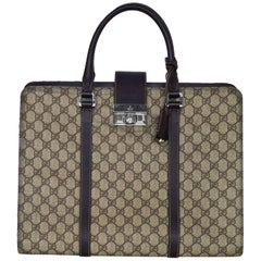 Gucci Monogram Canvas GG Supreme Briefcase/Laptop Bag