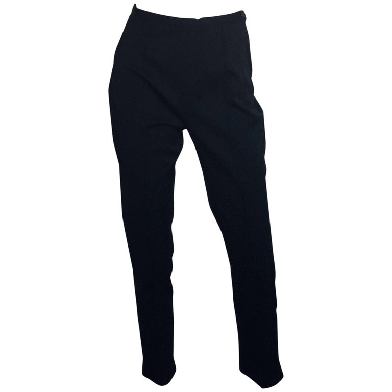 Prada silk high waisted skinny pant