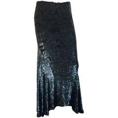 Ralph Lauren's Grey sequin bias cut skirt