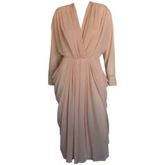Lillie Rubin blush draped dress