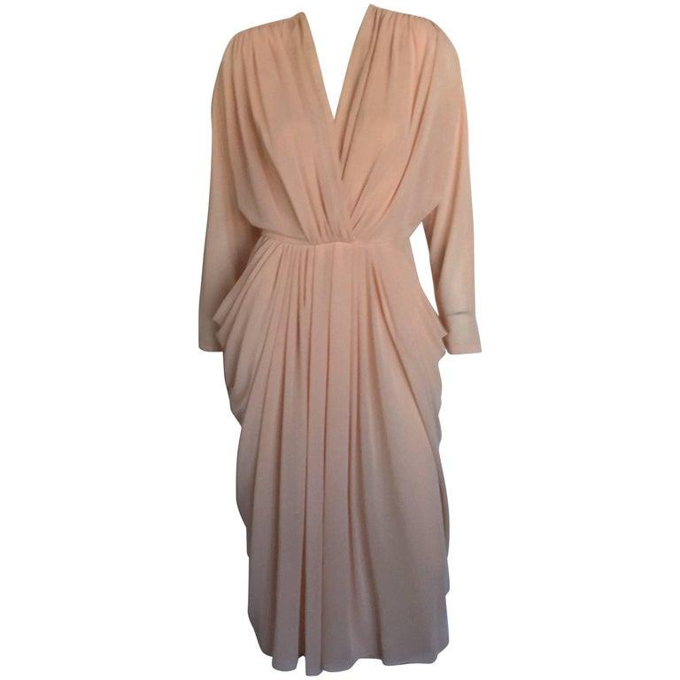 Lillie Rubin blush draped dress