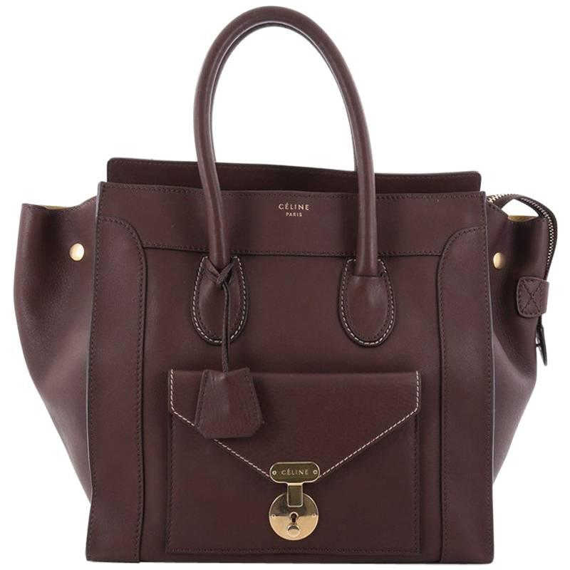 1stdibs Celine Bag In Black Smooth Calf Leather With Beige Stitching 8K9QD