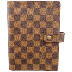 LOUIS VUITTON 'Agenda Functionnel' Damier Canvas Travel Binder