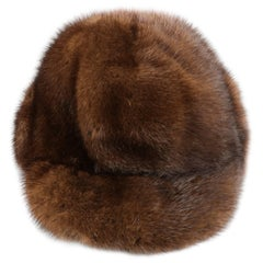 VINTAGE Brown Mink Fur Hat