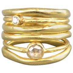 IPPOLITA 7 18k Gold Stardust Movie Star Diamond Ring