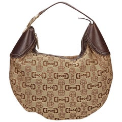 Gucci Brown Jacquard Shoulder Bag