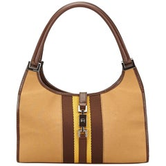 Gucci Brown Canvas Jackie