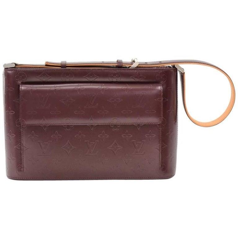 Louis Vuitton Allston Purple Monogram Mat Leather Shoulder Bag