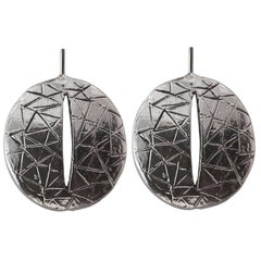 Giulia Barela Eye 925 silver black rhodium earrings