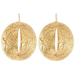 Giulia Barela Eye gold plated bronze earrings