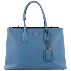 Prada Turnlock Twin Tote Saffiano Leather Medium