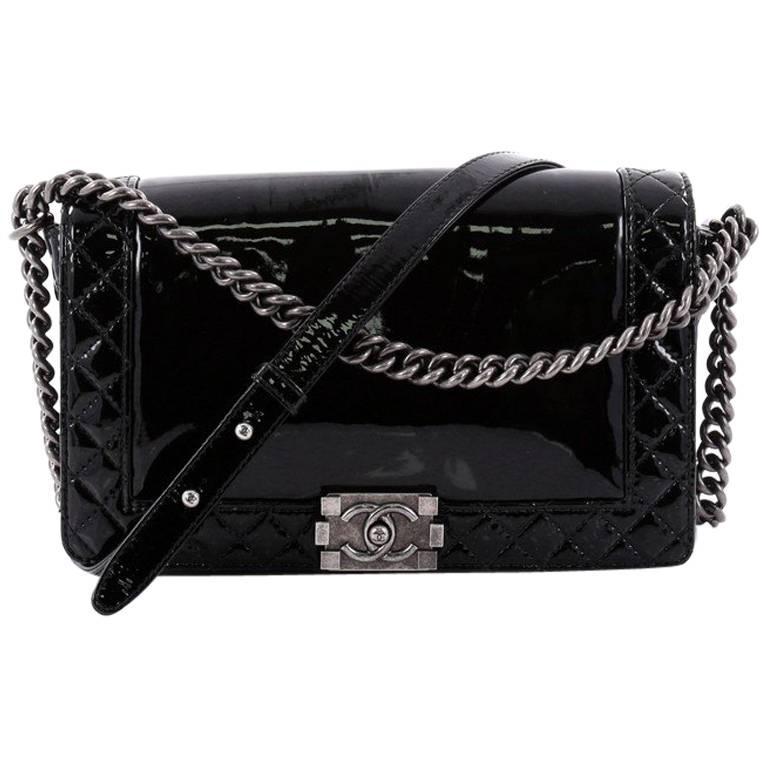 ec30c8982717 Chanel Reverso Patent New Medium Boy Flap Bag at 1stdibs