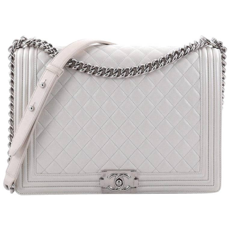 393bc9b25119 Chanel Boy Flap Bag Quilted Calfskin Large at 1stdibs