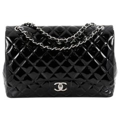 Chanel Classic Quilted Patent Maxi Double Flap Bag