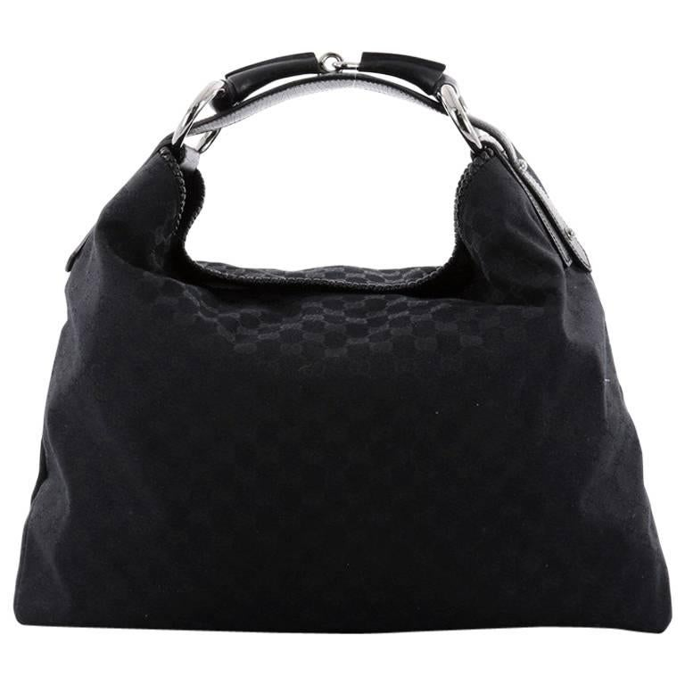 e4e1f0a488eb6b Gucci Horsebit Hobo GG Canvas Large at 1stdibs