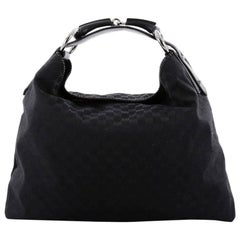 Gucci Horsebit Hobo GG Canvas Large