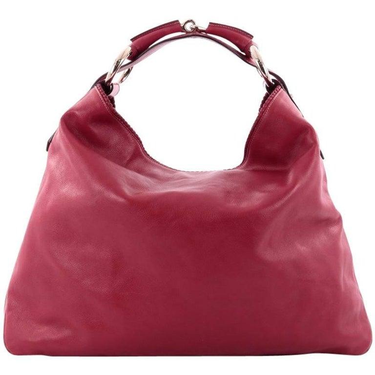 0e2250b71c61 Gucci Horsebit Hobo Leather Large at 1stdibs