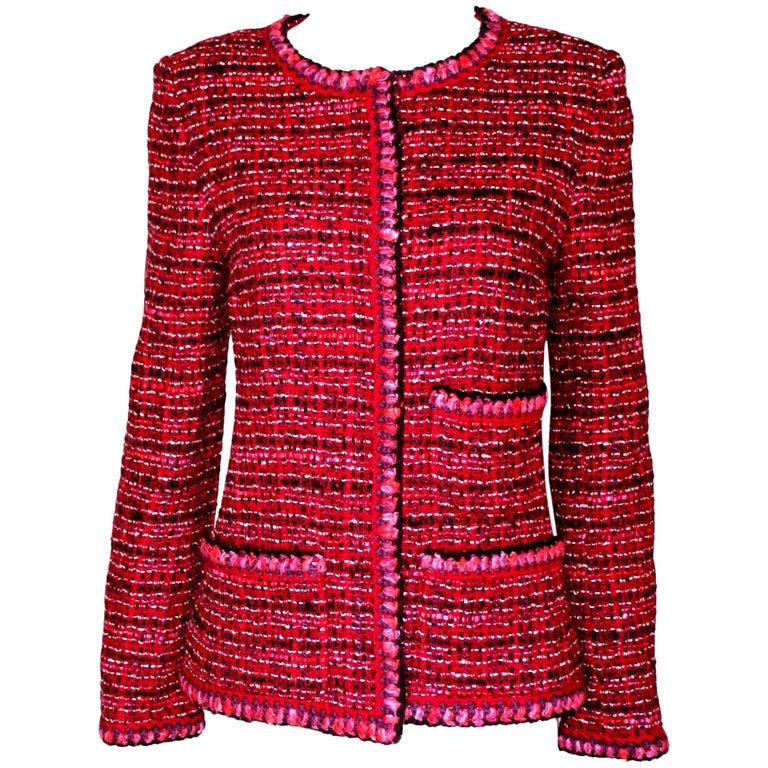 Gorgeous Chanel Chunky Lesage Tweed Maison Lesage Crochet Knit Jacket