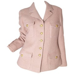 Chanel wool jacket with gripoix buttons