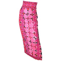 1970s Long Pucci Skirt with Slit