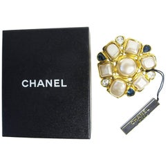 Chanel Faux Pearl and Gripoix Large Brooch