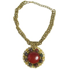 Miriam Haskell Large Pendant Necklace