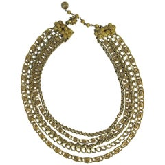 Miriam Haskell Five Chain Necklace