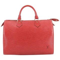 Louis Vuitton Speedy Handbag Epi Leather 30