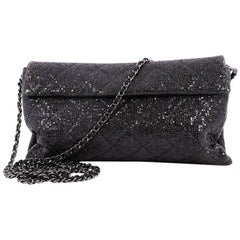 Chanel Chain Clutch Quilted Sequin
