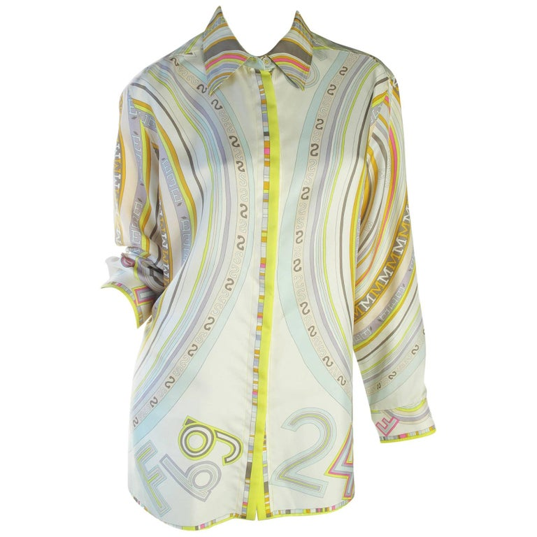 Hermes Silk Long Blouse