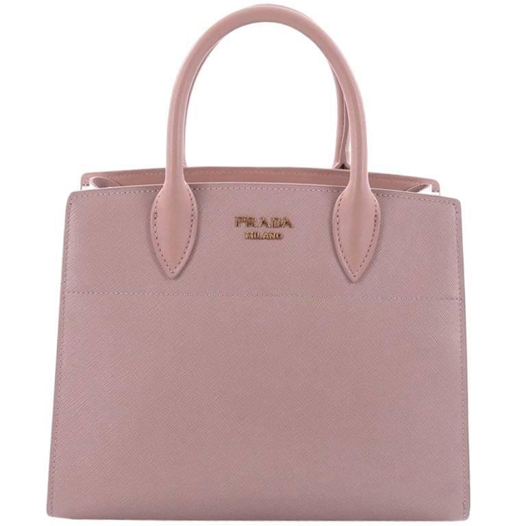 ad60283fd818 Prada Bibliotheque Handbag Saffiano Leather with City Calfskin Small For  Sale