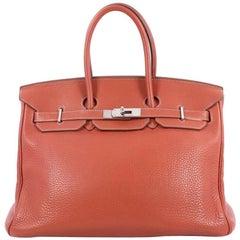 Hermes Eclat Clemence Palladium Hardware 35 Birkin Handbag