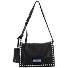 Prada Etiquette Shoulder Bag Studded Calfskin