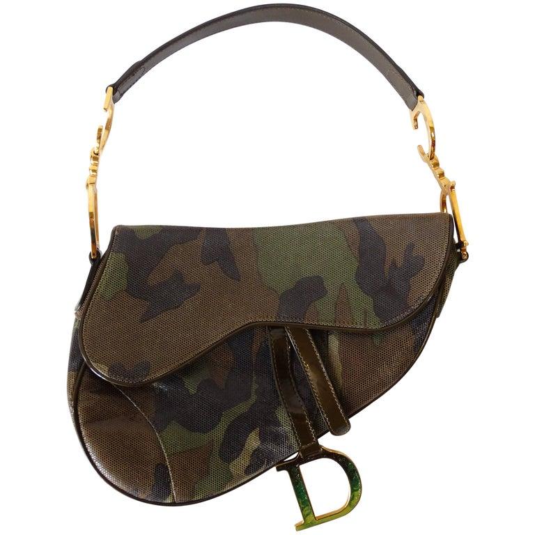 ed4f45cc80a2 Christian Dior Camouflage Saddle Bag at 1stdibs