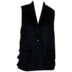 Alexander Wang Black Sheer-Back Vest